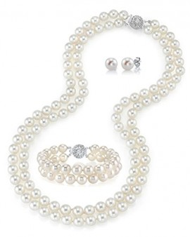 THE PEARL SOURCE 14K Gold 7-8mm Round White Pearl