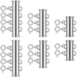 6 Pieces 2/3/4 Strands Layered Lock Necklace Connector